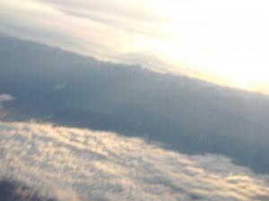 富士山と南アルプスと初日の出